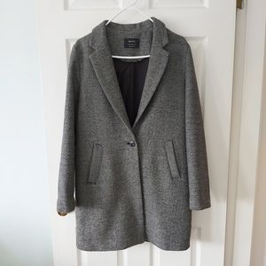 Bershka - Wool Mix Car Coat with Pockets
